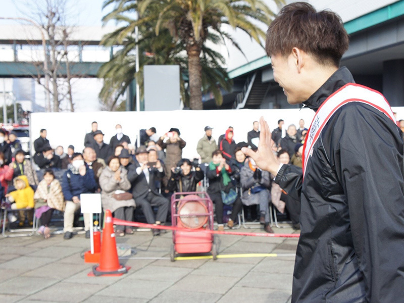 パレードの様子:藤髙選手